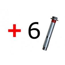 6 Tornillos de fijación T11L
