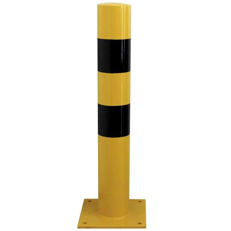 Bolardo pilona protec amarillo negro