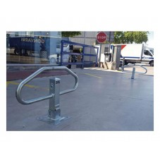 barrera abatible manual para parking Bam instalada