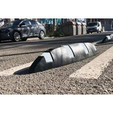 Separador vial plástico Piton instalado