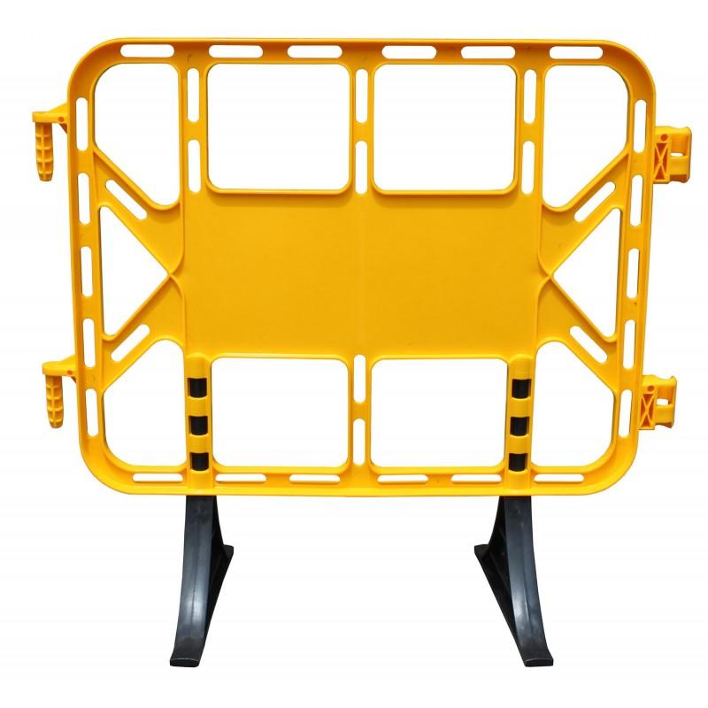 Valla plástico contención peatonal 1 m amarilla