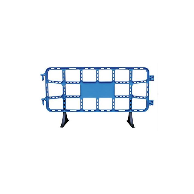 valla de plástico contención peatonal obra de 2 m azul