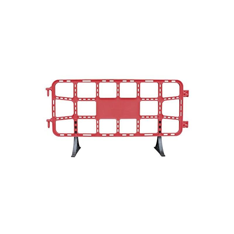 valla de plástico contención peatonal obra de 2 m roja