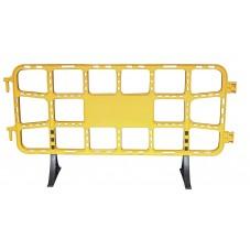 valla de plástico contención peatonal obra de 2 m amarilla