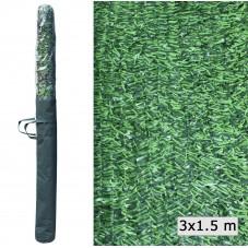 Seto artificial decorativo verde 1.00 m  x 3.00 m
