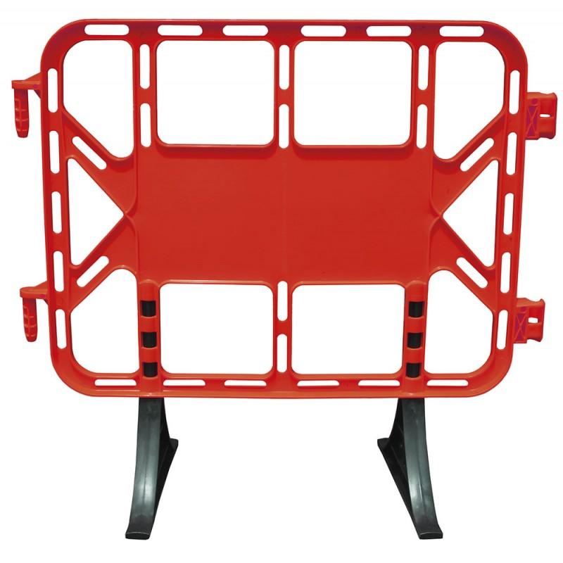 Valla plástico contención peatonal 1 m roja
