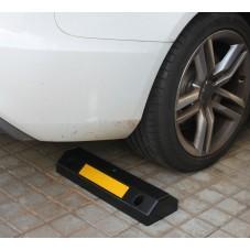 tope ruedas plástico instalado