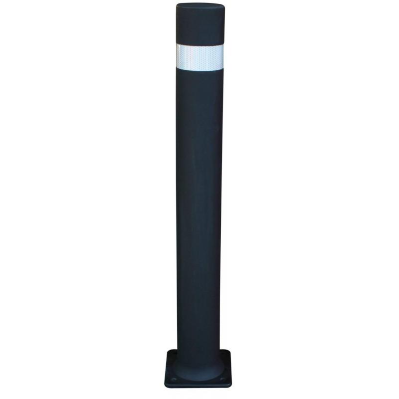 bolardo flexible con placa negra