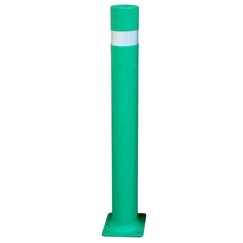 bolardo flexible con placa verde