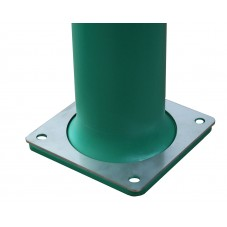 Placa de refuerzo para pilona con placa para atornillar a suelo