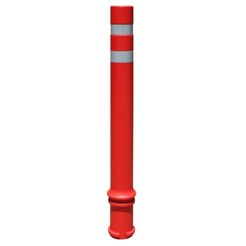 Bolardo flexible A-Pal rojo con 2 cintas reflectantes