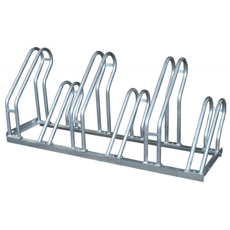 Aparca bicicletas modular en acero galvanizado