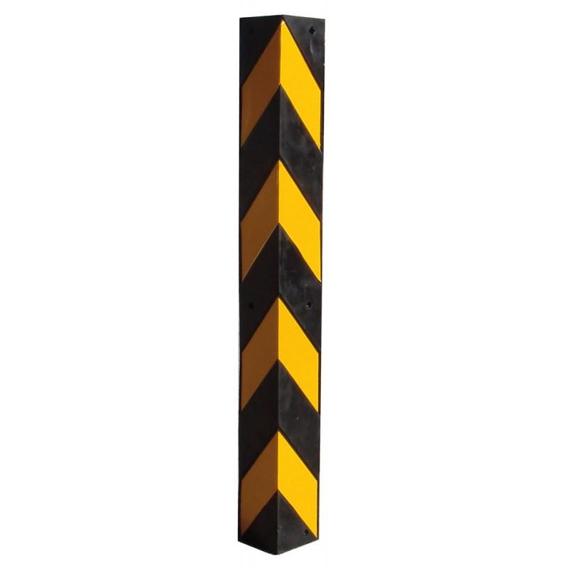 Cantonera de caucho esquina amarillo negro